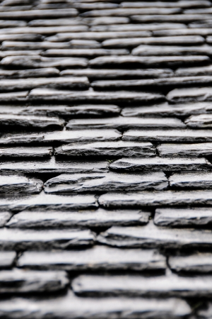 simetric: Slate roof typical in old buildings in scotland