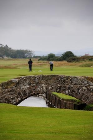 andrews: The famous Swilcan bridge in Saint Andrews.Scotland