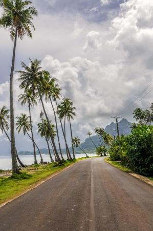 borabora: An stormy day in the beautiful island of Borabora