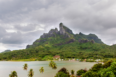 borabora: Image of the Mount Otemanu and interior bay in the beautifull island of Borabora