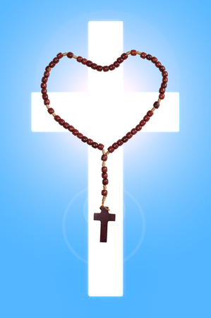 jesuschrist: The rosary  is a Roman Catholic sacramental and Marian devotion to prayer and the commemoration of Jesus and events of his life  Stock Photo