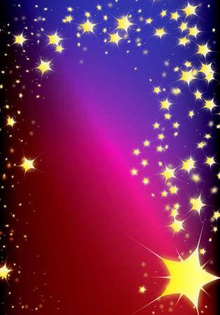 magic comet for sorcerer or santa claus photo