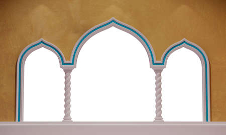masking: isolated oriental archway with colums for masking background