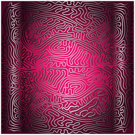 samoerai: mystieke code op paarse achtergrond - heroïsche frontpage Stock Illustratie