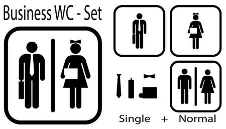 WC icon for business people + normal icon Vector