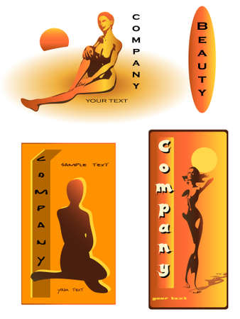 nudism: label design for sunroom + beauty farm and sauna