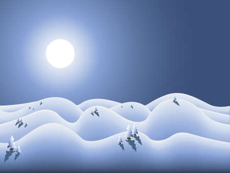 vector winterland for winter season and christmas Vector