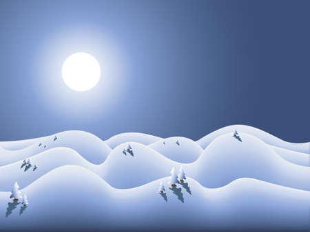 schneelandschaft: Vektor Winterland f�r Wintersaison und Weihnachten  Illustration