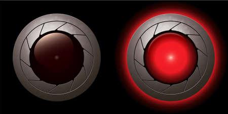red animation shutter LED light  Vector