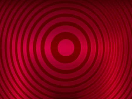 hypnotic: red eye-catcher for product placement, target background