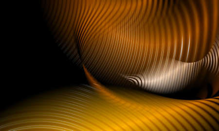 abstract waves and curves in warm brown colors on black background