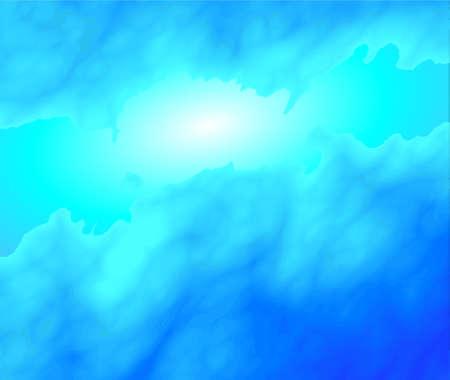frigid: a light behind mystic clouds or nebular universe Illustration