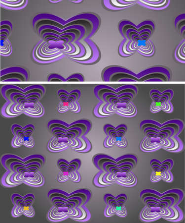 3d abstract flower or butterfly windows an a wall for background