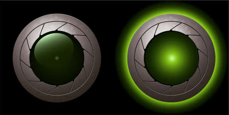 green animation shutter LED light  Illustration
