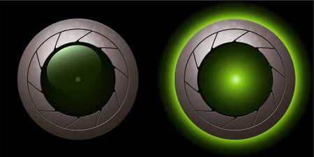 green animation shutter LED light Stock Vector - 5567767
