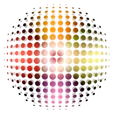 abstract halftone sphere for company or business background