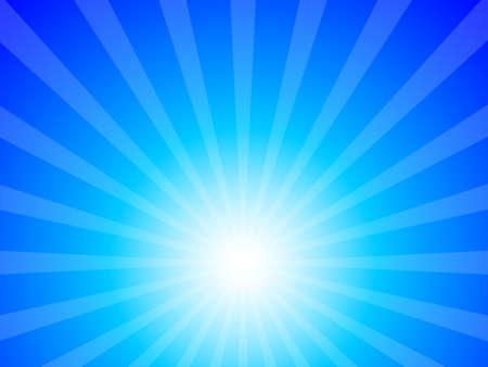 estrella caricatura: buena base para feliz y sentir el buen fondo de cielo azul sol y rayos Vectores