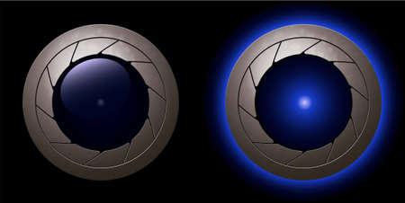 blue animation shutter LED light  Vector