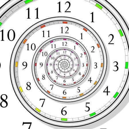 spirale dna: orologio di tempo infinito  Vettoriali