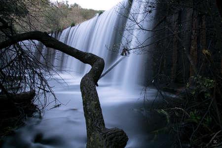 Pradillo dam in the river Lozoya. Sierra de Guadarrama. Madrid. Spain. Europe.