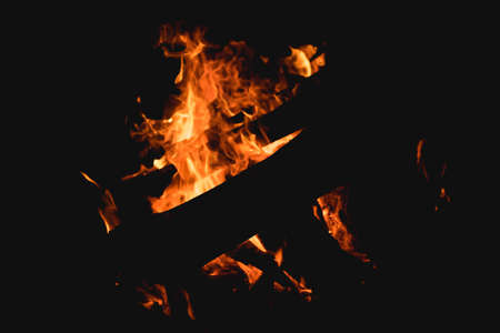 Burning wood at a fire