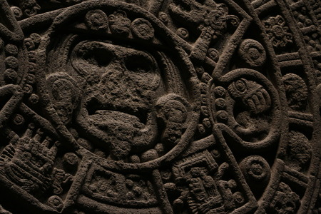 Azteekse kalender Stockfoto