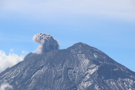 active volcano: Popocatepetl active volcano