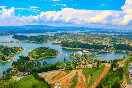 View from the Pe?on Stone in Guatape Stock Photo