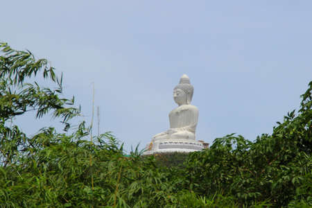 marmorate: View of the Big Budha of Phuket throught the trees