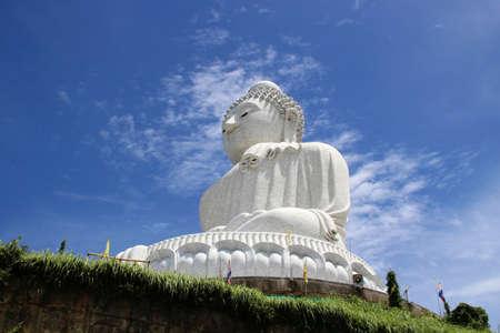 marmorate: Big Budha of Phuket with a beautiful blue sky Stock Photo