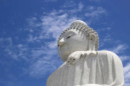 marmorate: Close up of the Big Budha of Phuket Stock Photo