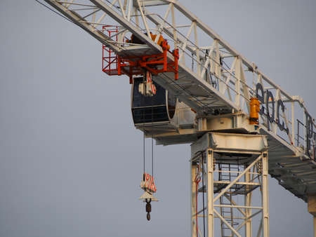 maneuverable: Close up of a crane cabin