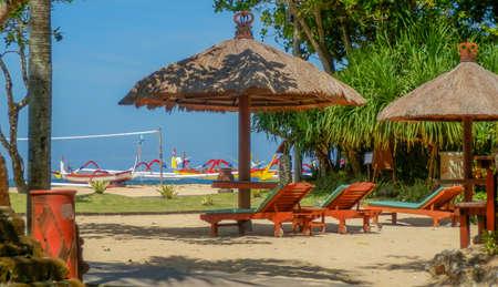 sanur: Straw Umbrella on Sanur beach Bali