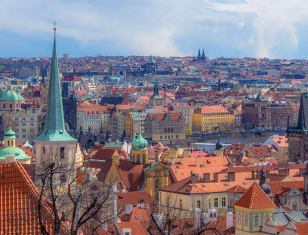 castle district: Looking over Prague from the Castle district