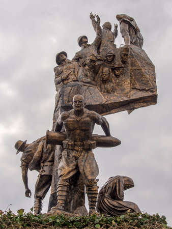 corporal: Monument of Victory in Echeban featuring Turkish soldier Corporal Seyit carrying a heavy artillery shell.