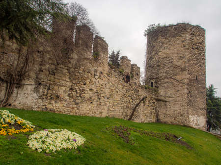 Outer castle wall of the Topkapi Palace in Istnabul