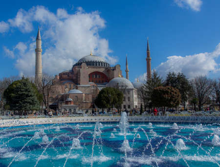 hagiasophia: Constructed in 537, throughout its history has been an Eastern Orthodox Cathedral, a Roman Catholic Catherdral and an Imperial Mosque. It has been a museum since 1935.
