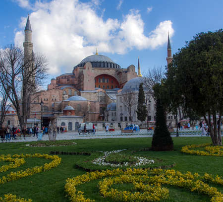 Hagia Sophia is now a museum in Istanbul, Turkey Editorial