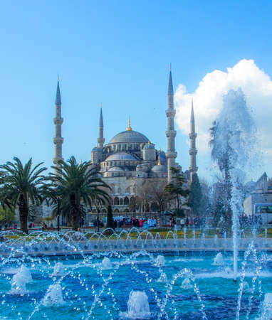 The mosque is popularly known as the Blue Mosque