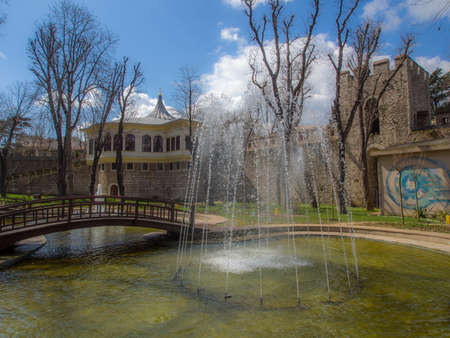 eminonu: Gulhane Park is a historical urban park in the Eminonu district of Istanbul Editorial