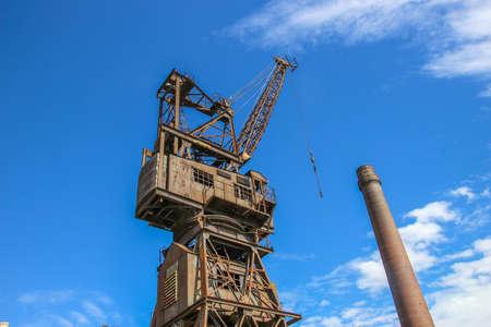 shipbuilding: Rusty disused crane on Cockatoo Island docks in Sydney