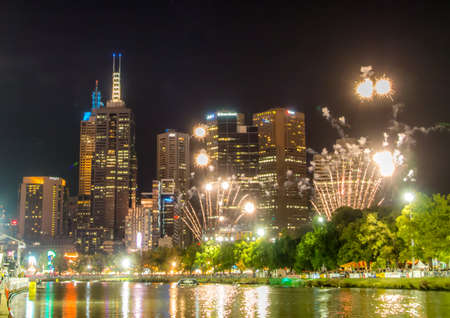 Fireworks on Melbournes Yarra River
