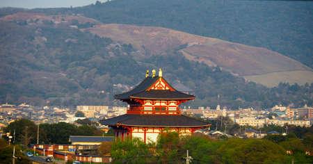 Afternoon sun setting on Heijo Palace, Nara