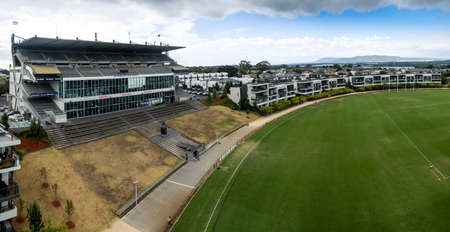 AUSTRALIA, MELBOURNE - FEBRUARY 25, 2018: Ricoh Centre is the only remaining grandstand from Waverley Park, a   77,000 seat Australian football stadium demolished in 2001. It has been turned into a state-of-the-art training and administrative facilityrned