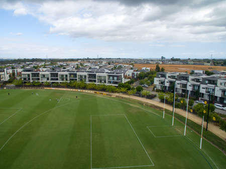 AUSTRALIA, MELBOURNE - FEBRUARY 25, 2018: Waverley Park housing development, The site was re-developled from a 77,000 seat Australian football stadium in 2001, with the final stage to commence soon.