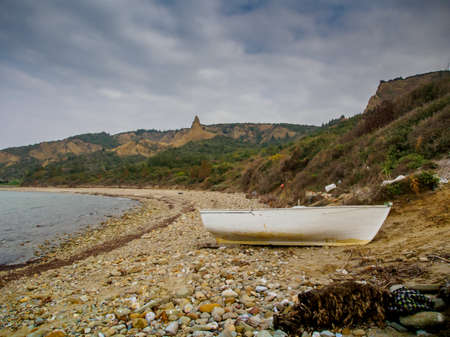 Turkey, Gallipoli - March 16, 2015: Shore at Anzac Cove Turkey the scene of one of the bloodiest campaigns of World War 1 in the Gallipoli Peninsula on the Aegean Sea