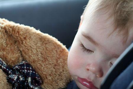 Toddler Sleeping Banco de Imagens