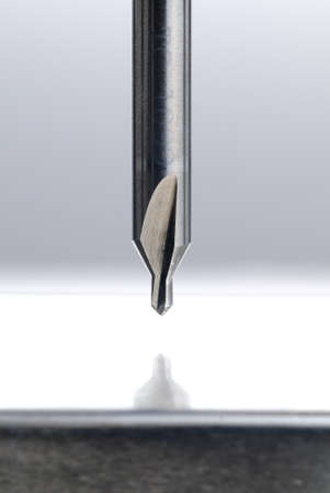 penetrated: Drill milling machine Stock Photo