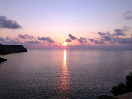 sunrise lampedusa island Banco de Imagens