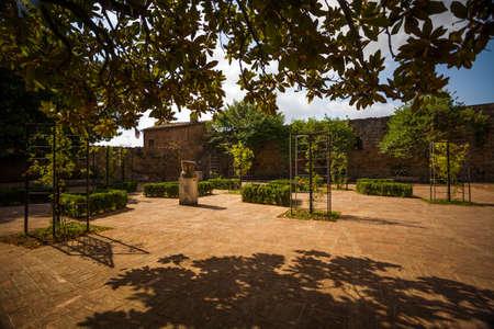 Municipal rose garden in San Quirico d'Orcia, Toscana, Italia